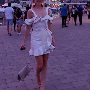 EUC Parker dress white small